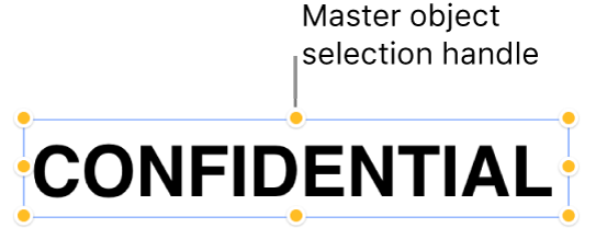 An object with selection handles.
