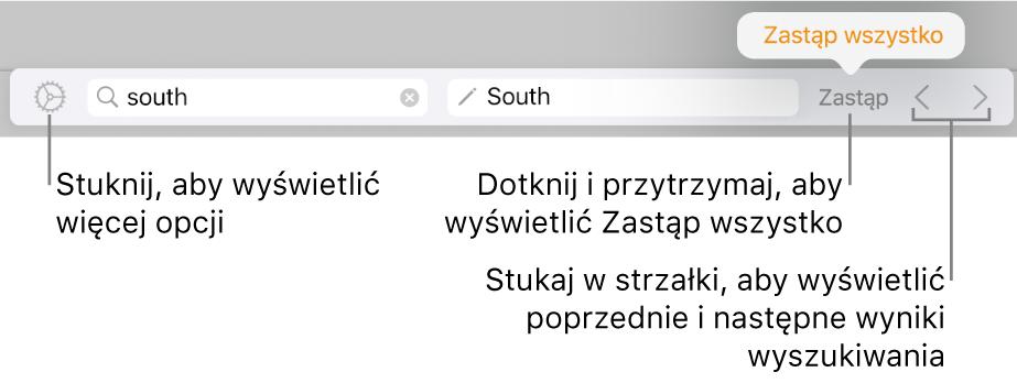 Narzędzia znajdowania izastępowania tekstu.