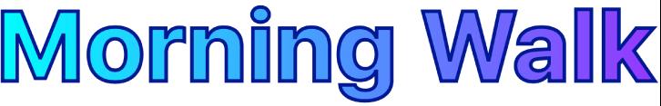 Exemplo de um texto estilizado com um preenchimento de gradiente e contorno.