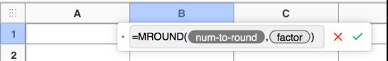 Editor de fórmulas con la función SUMA.