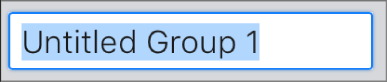 Textové pole Vytvoriť skupinu.