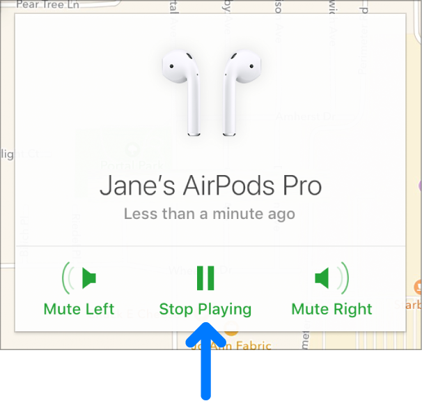 The Lost Mode button in the bottom-middle of the device's Info window.