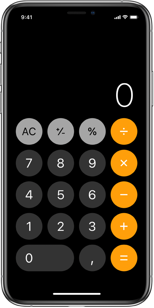 Standardní kalkulačka se základními aritmetickými funkcemi