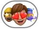 el botón de stickers de Memoji