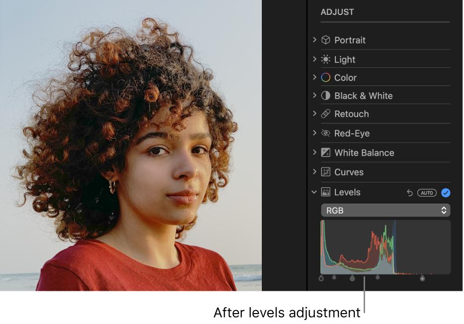 A photo after levels adjustments.