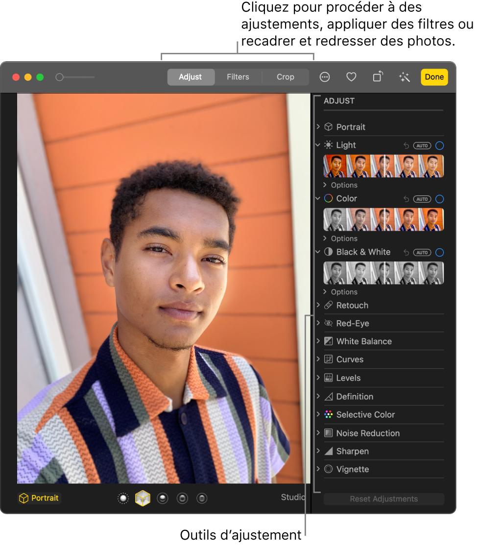 Notions élémentaires Sur Les Techniques D édition De Photos Dans Photos Sur Mac Assistance Apple