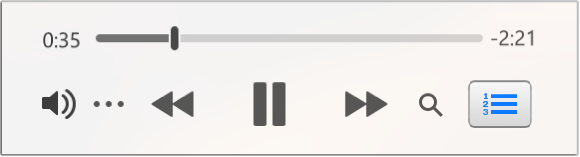 The smaller iTunes Mini Player, showing only the controls (and not the album artwork).