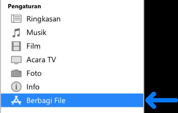Mentransfer File Antara Pc Dan Perangkat Anda Dengan Itunes Apple Support