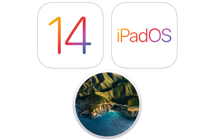 Значки операционных систем для iPhone, iPodtouch, Mac и iPad.