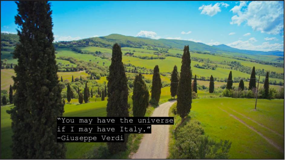 Video mit erweiterten Untertiteln in Weiß vor schwarzem Hintergrund