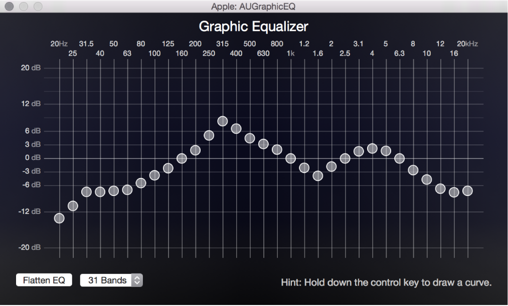 Graphic Equalizer window
