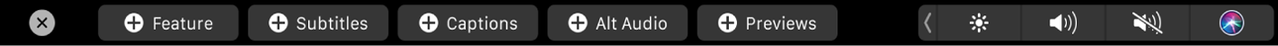 Conjunto de botones de archivos iTMS