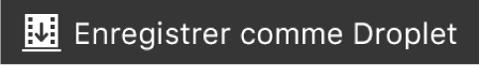 Bouton Enregistrer comme Droplet sur la Touch Bar