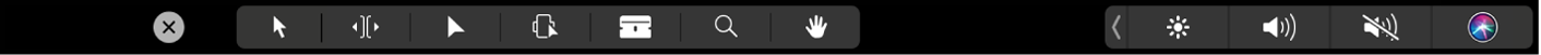 Die Touch Bar mit den Timeline-Schnittwerkzeugen
