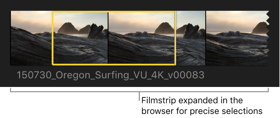 A filmstrip shown expanded in the browser