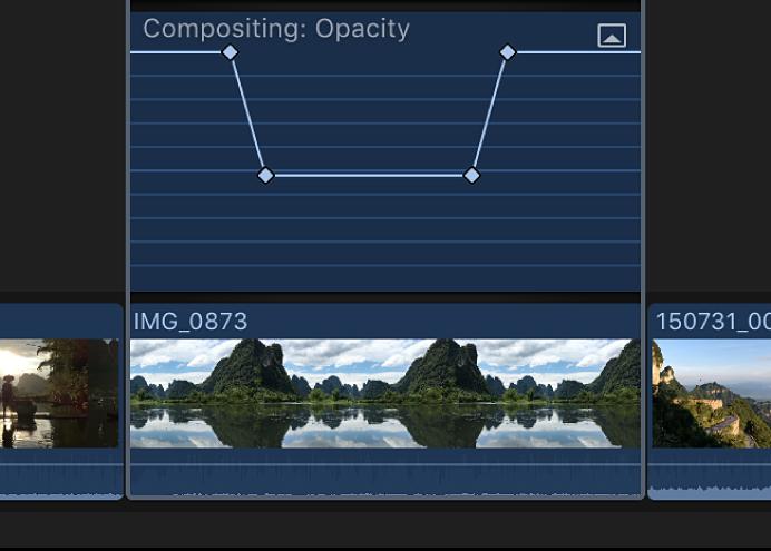 Fotogramas clave añadidos al efecto del editor de animación de vídeo
