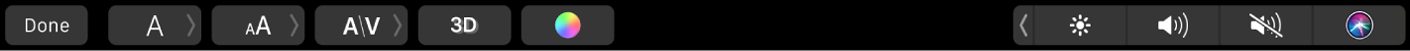 La TouchBar con controles para editar títulos y darles formato