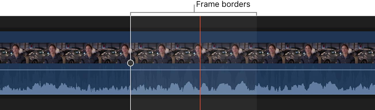 Zoom avant sur une forme d'onde audio au niveau des échantillons