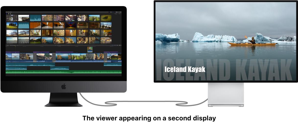 Visualiseur affiché sur le deuxième écran