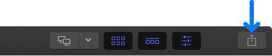 ツールバーの「共有」ボタン