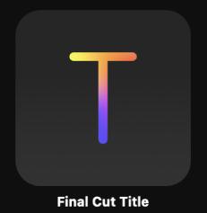 Final Cut-Titel-Symbol in der Projektübersicht