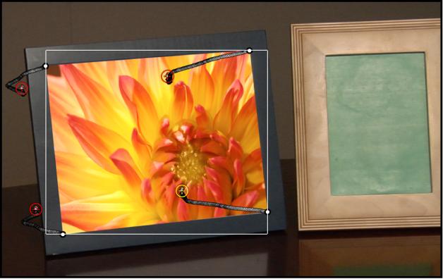 Canvas, in dem ein Objekt an ein Hintergrundobjekt angepasst ist