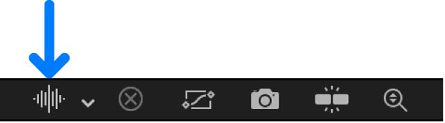 Waveform pop-up menu in the Keyframe Editor