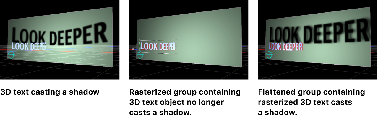 Canvas showing effect of rasterization on shadows