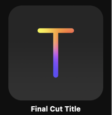 Final Cut Title icon in Project Browser