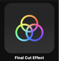 Final Cut Effect icon in Project Browser