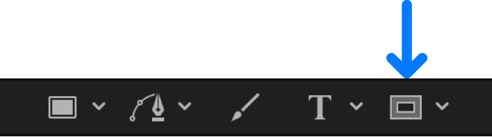 Mask tool set in the canvas toolbar