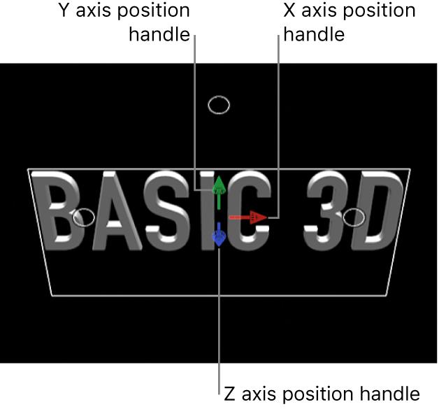 Canvas showing the 3D Transform onscreen controls
