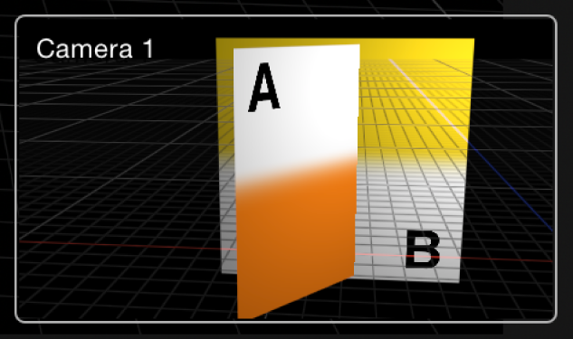 Inset showing perspective camera view