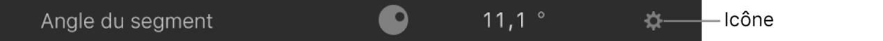 Icône Comportements dans un paramètre de filtre