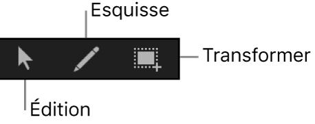 Outils d'édition d'images clés dans l'éditeur d'images clés