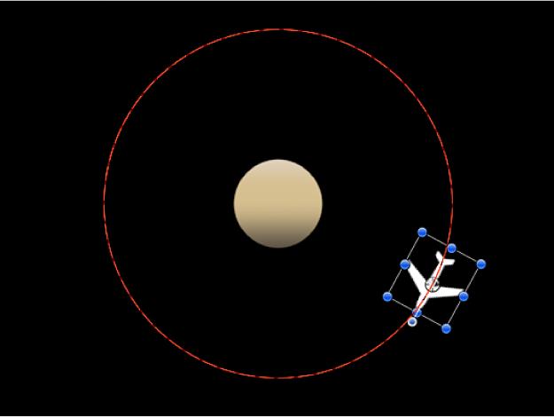 Canevas affichant un exemple du comportement En orbite