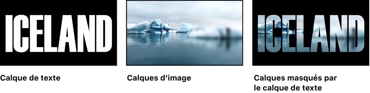 Canevas affichant un exemple de masque d'image