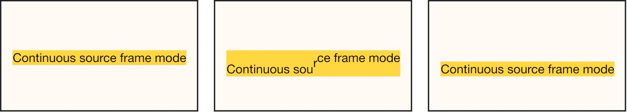 Canevas affichant l'effet du paramètre En continu sur l'animation Lier