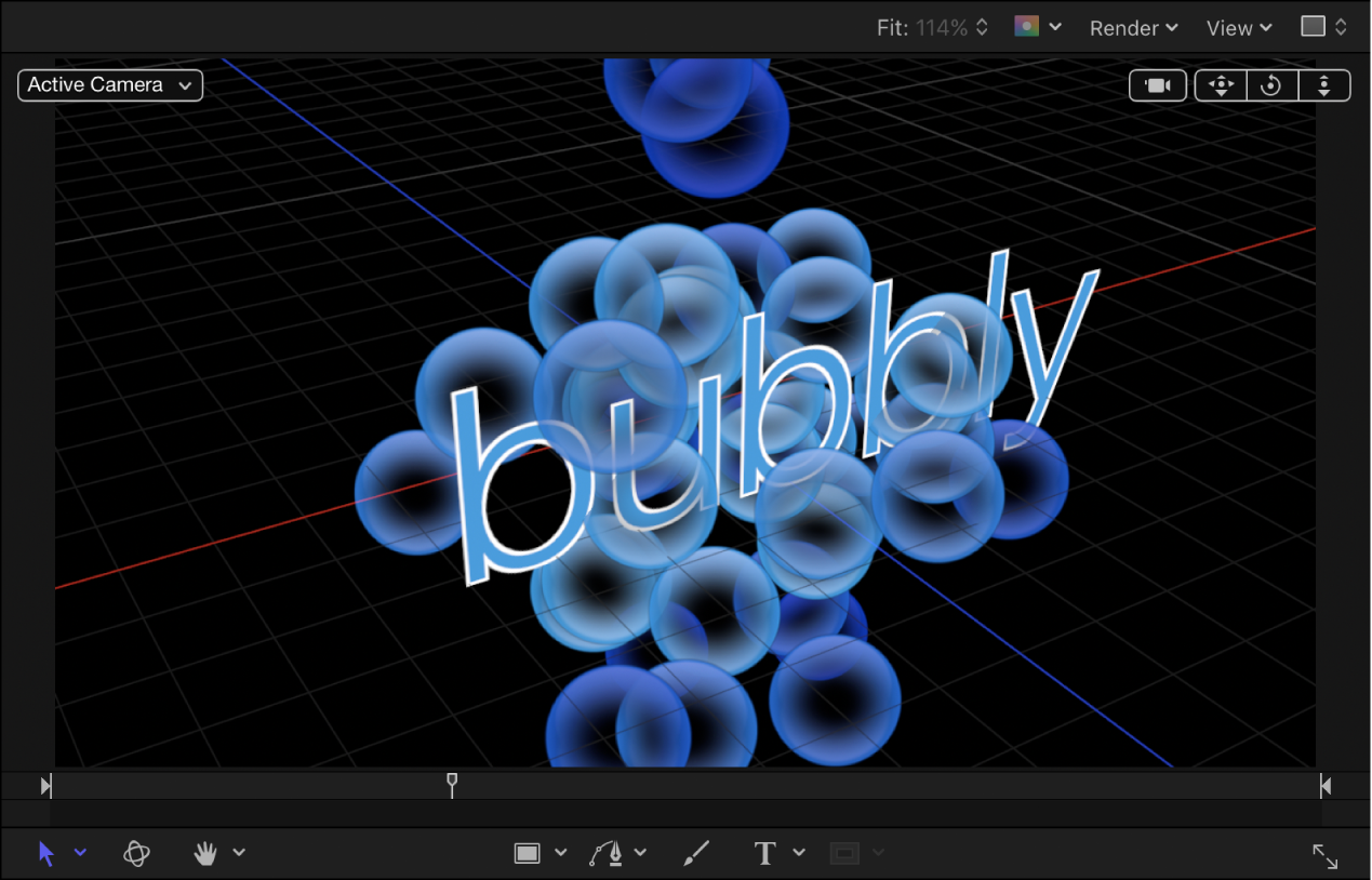显示 3D 粒子的画布