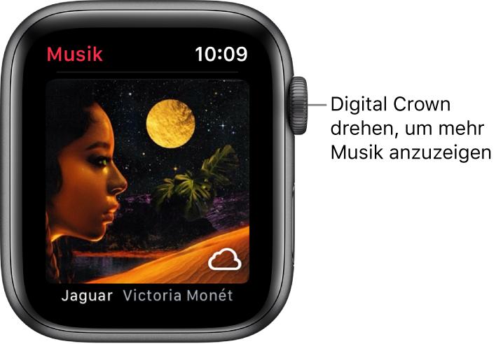 """Ein Album und das zugehörige Cover in der App """"Musik""""."""