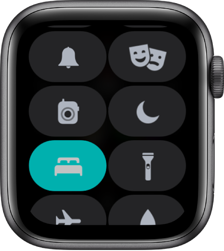 Control Center, with the Sleep mode button shown at the lower left.