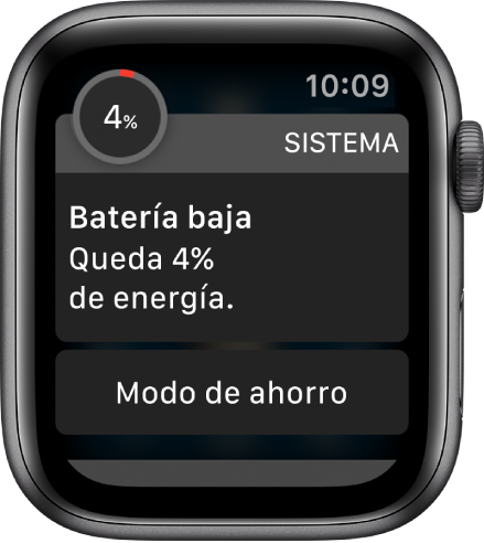 La notificación de batería baja incluye un botón que puedes tocar para activar el modo de ahorro de energía.
