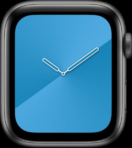 La carátula Degradado, donde puedes ajustar el color de la carátula, el estilo y el dial.