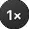 Avspillingshastighet-knappen