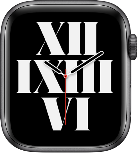 На циферблате «Типографика» время показано римскими цифрами.