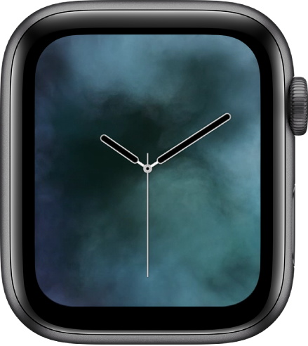 Mặt đồng hồ Hơi nước đang hiển thị một đồng hồ kim ở giữa và hơi nước bao quanh.