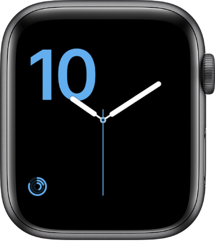 「數字」錶面,以藍色顯示輪廓分明的字樣,以及底部的「活動記錄」複雜功能。