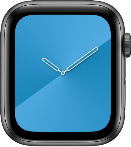 您可以在「漸層」錶面上調整錶面顏色、樣式和刻度盤。