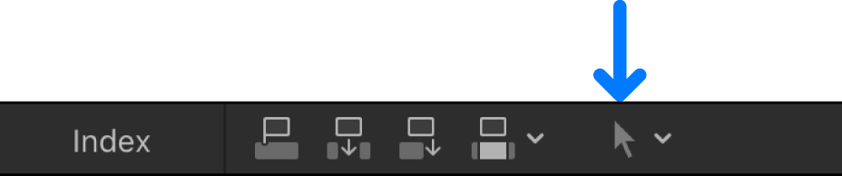 The Tools pop-up menu above the timeline