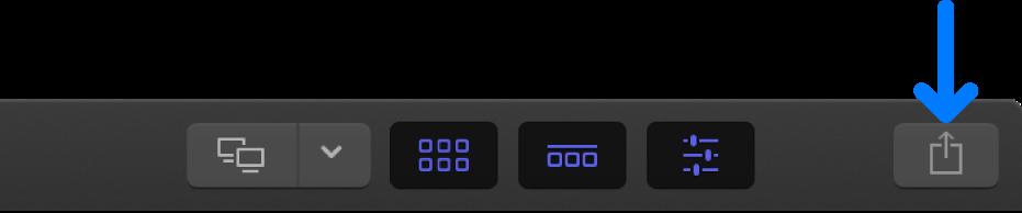 El botón Compartir en la barra de herramientas